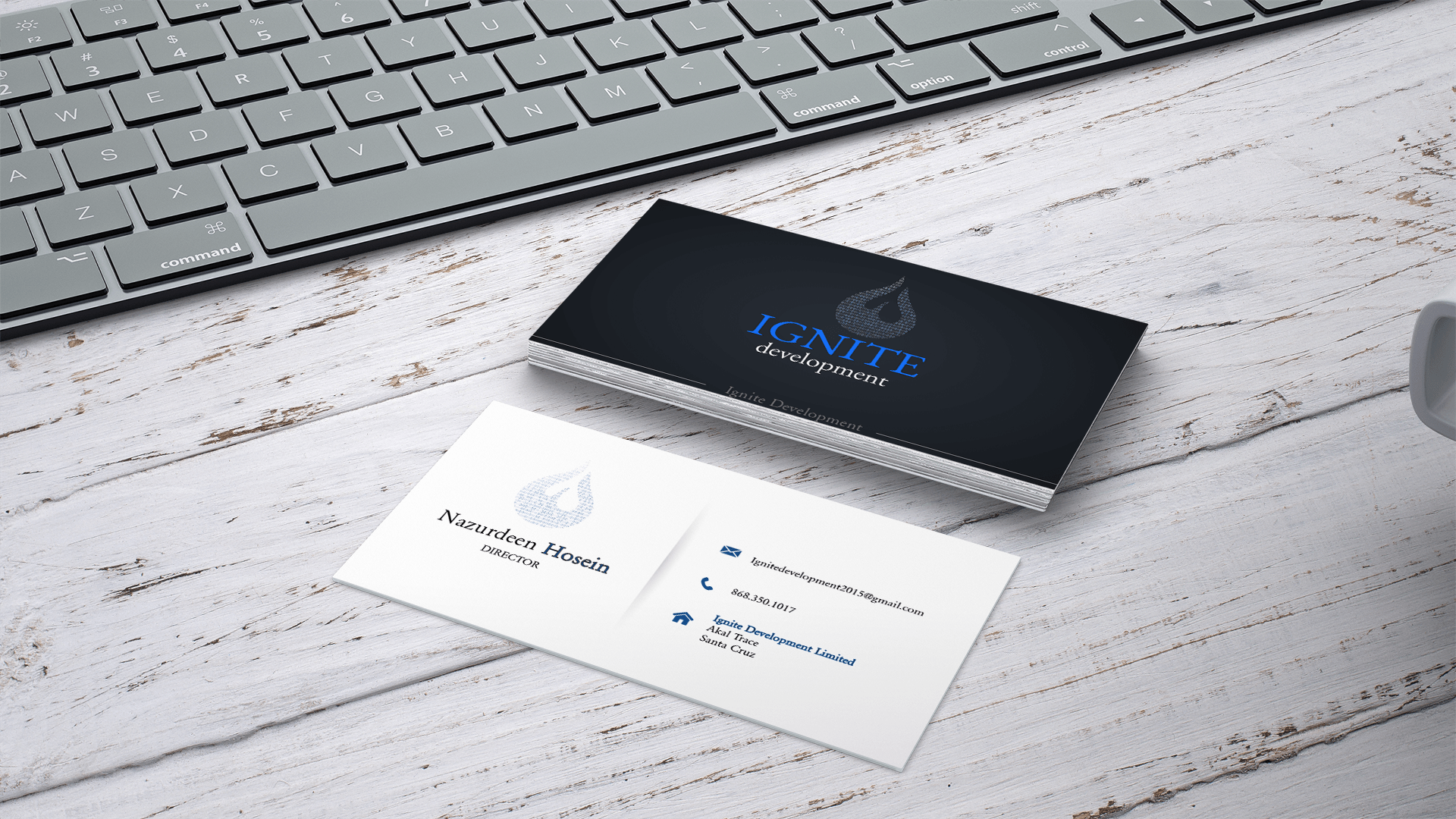 ignite business card